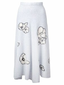 Adam Lippes intarsia-knit skirt - Blue