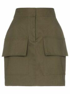 Michael Lo Sordo high waist utilitarian cotton mini skirt - Green