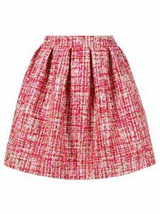 Philipp Plein mini tweed skirt - Red