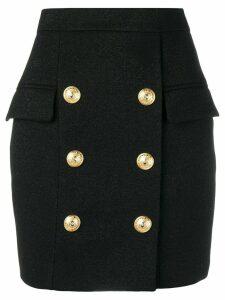 Balmain double breasted skirt - Black
