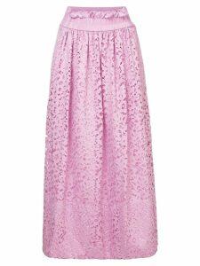 Tibi lace midi skirt - Pink