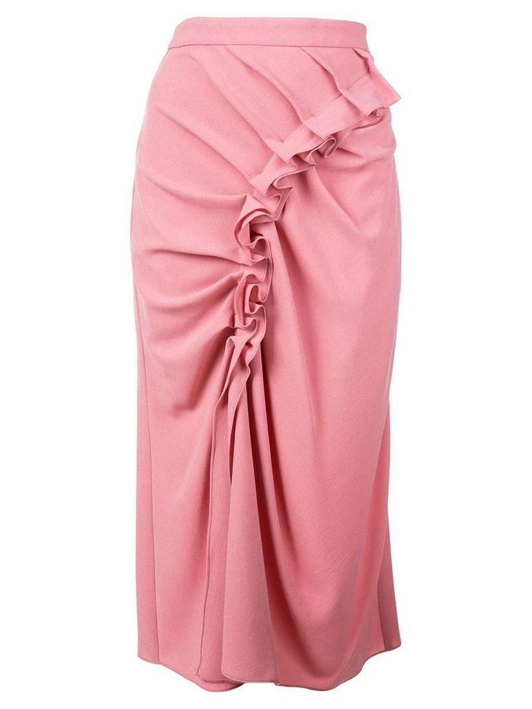 Sies Marjan ruffled midi skirt - Pink