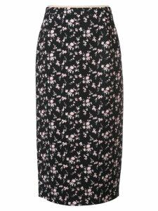 Nº21 floral-print skirt - Black