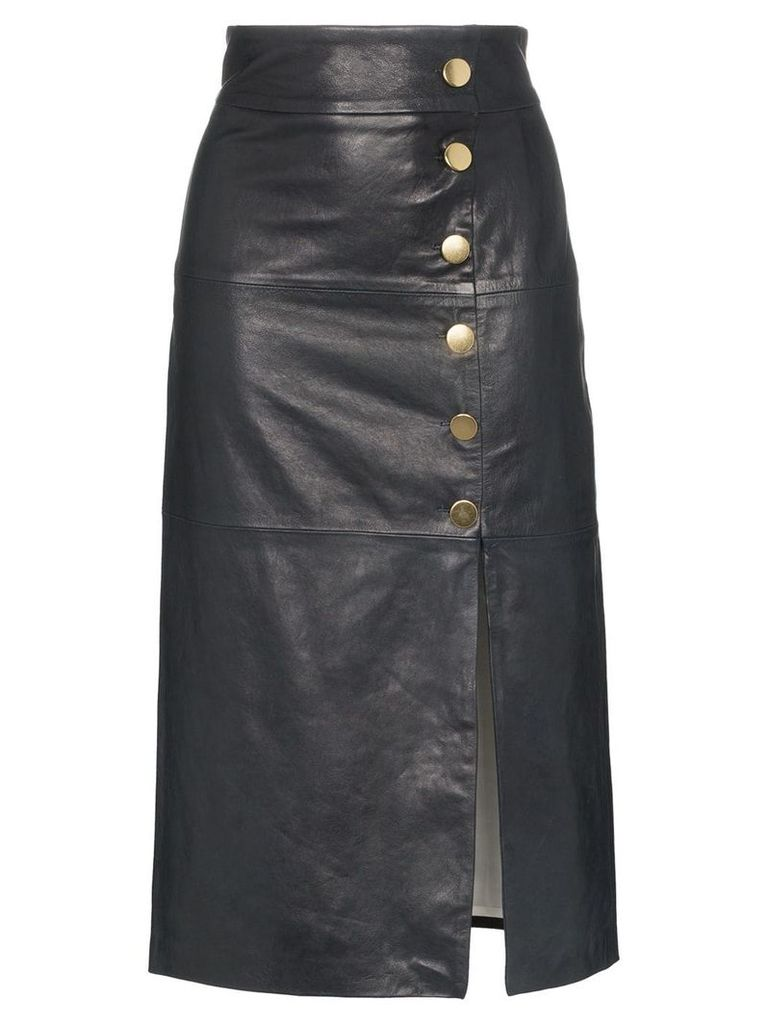 Skiim lucy button detail leather skirt - Blue