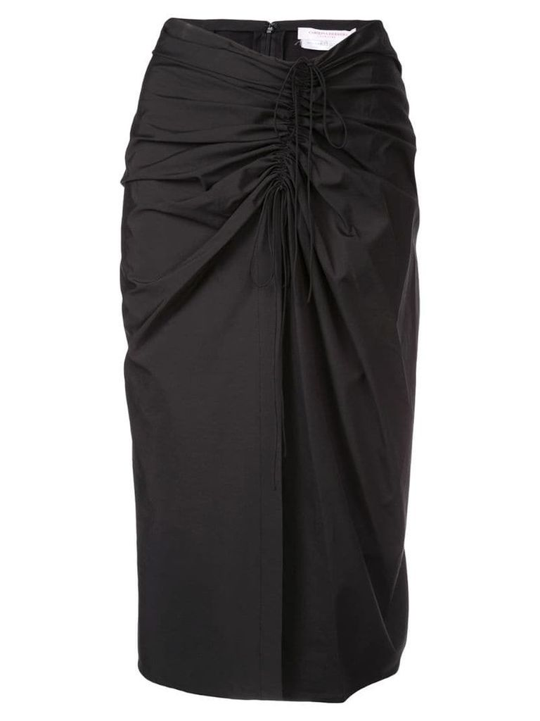Carolina Herrera draped skirt - Black