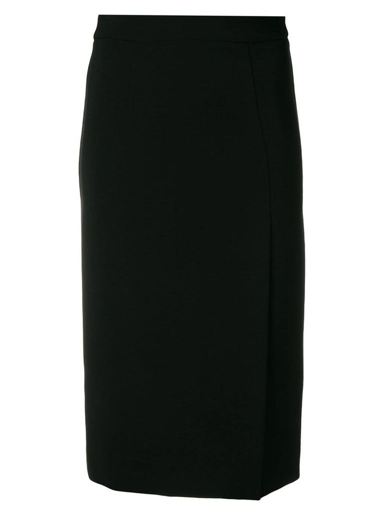 P.A.R.O.S.H. pencil skirt with side slit - Black