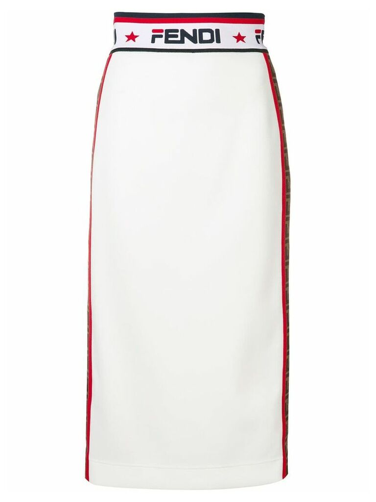 Fendi Fendi x Fila pencil skirt - White