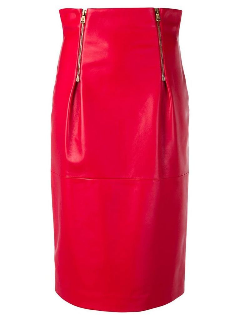 Versace high rise pencil skirt - Red