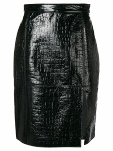 MSGM crocodile effect skirt - Black