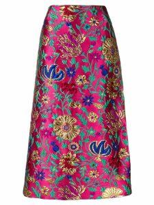 La Doublej brocade pencil skirt - PINK
