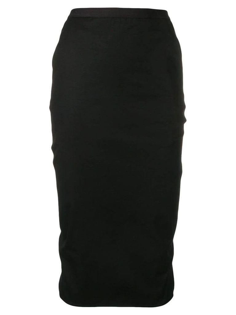 Rick Owens panelled pencil skirt - Black