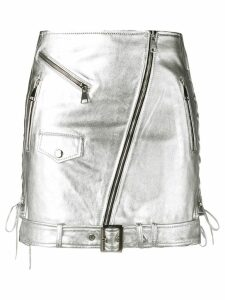 Manokhi metallic biker skirt - Silver