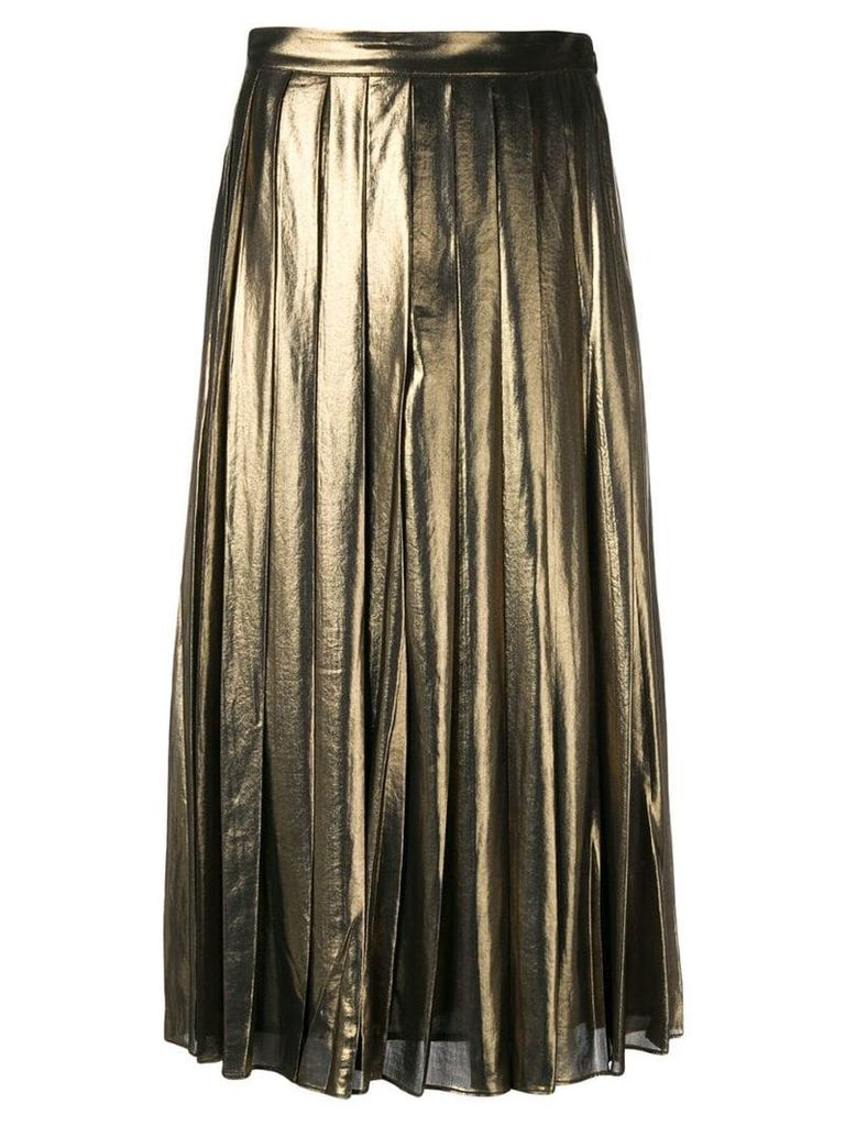 Michael Michael Kors pleated midi skirt - Metallic