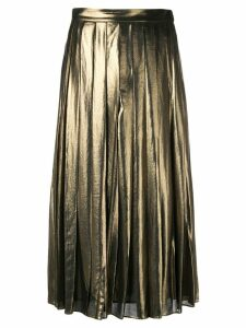 Michael Michael Kors pleated midi skirt - Metallic