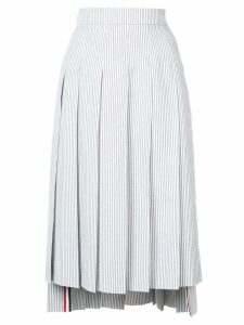 Thom Browne Seersucker Pleated Skirt - Grey