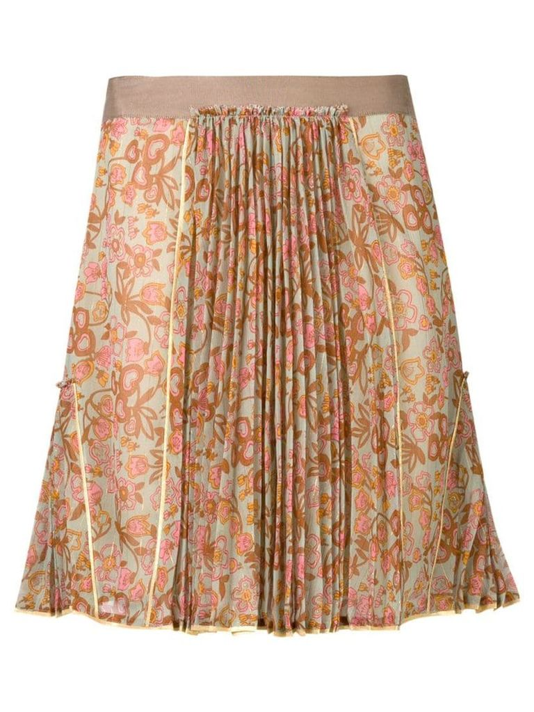 Coach floral pleated skirt - Green