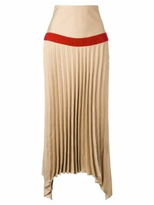 Atu Body Couture asymmetric pleated skirt - Brown