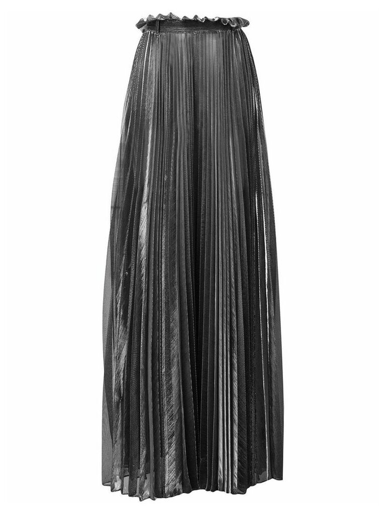 Atu Body Couture pleated maxi skirt - Silver