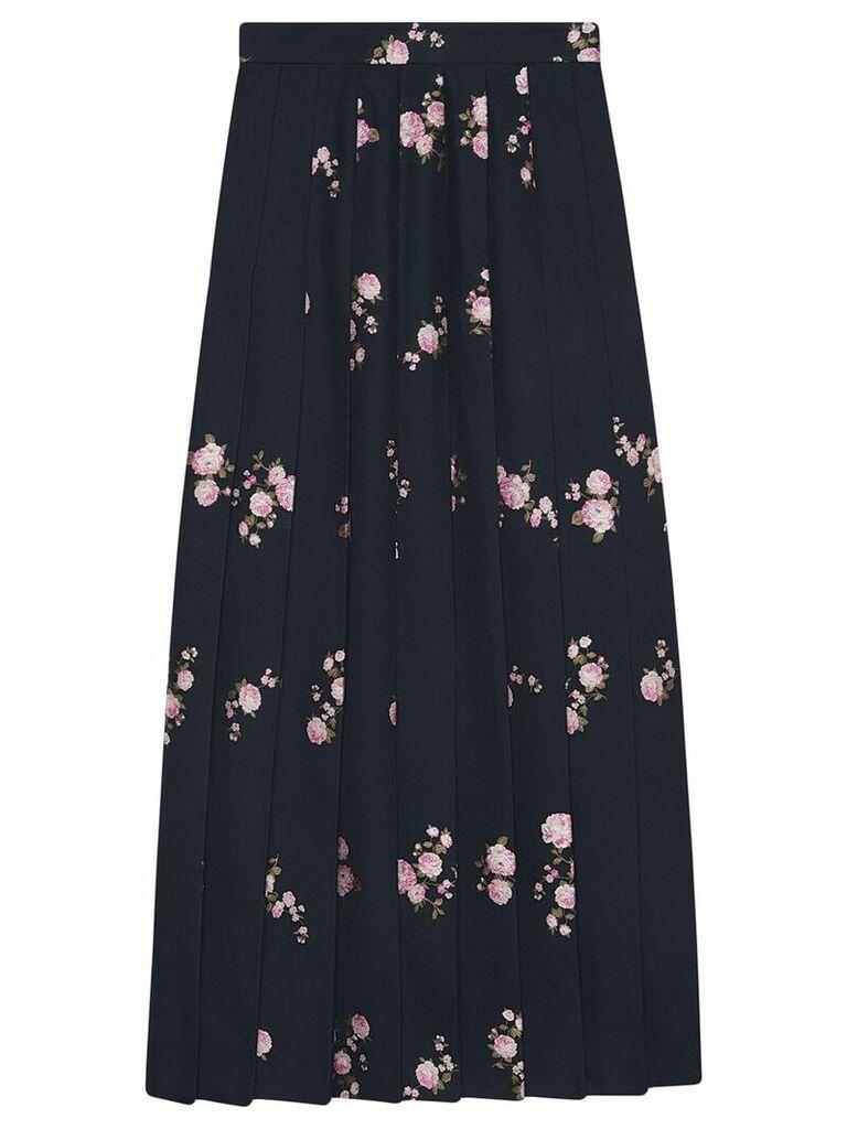 Gucci Floral fil coupé maxi skirt - Blue