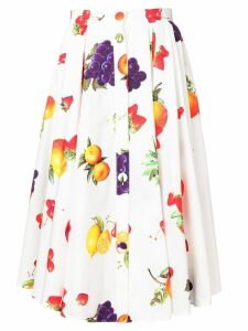 MSGM fruit print midi skirt - White