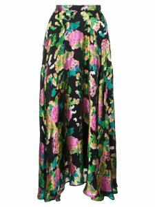 Saloni midi pleated skirt - Black