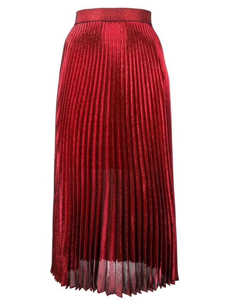 Christopher Kane pleated midi skirt - Red