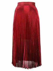 Christopher Kane pleated midi skirt - Red