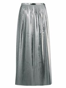 Maison Margiela high rise midi skirt - Silver
