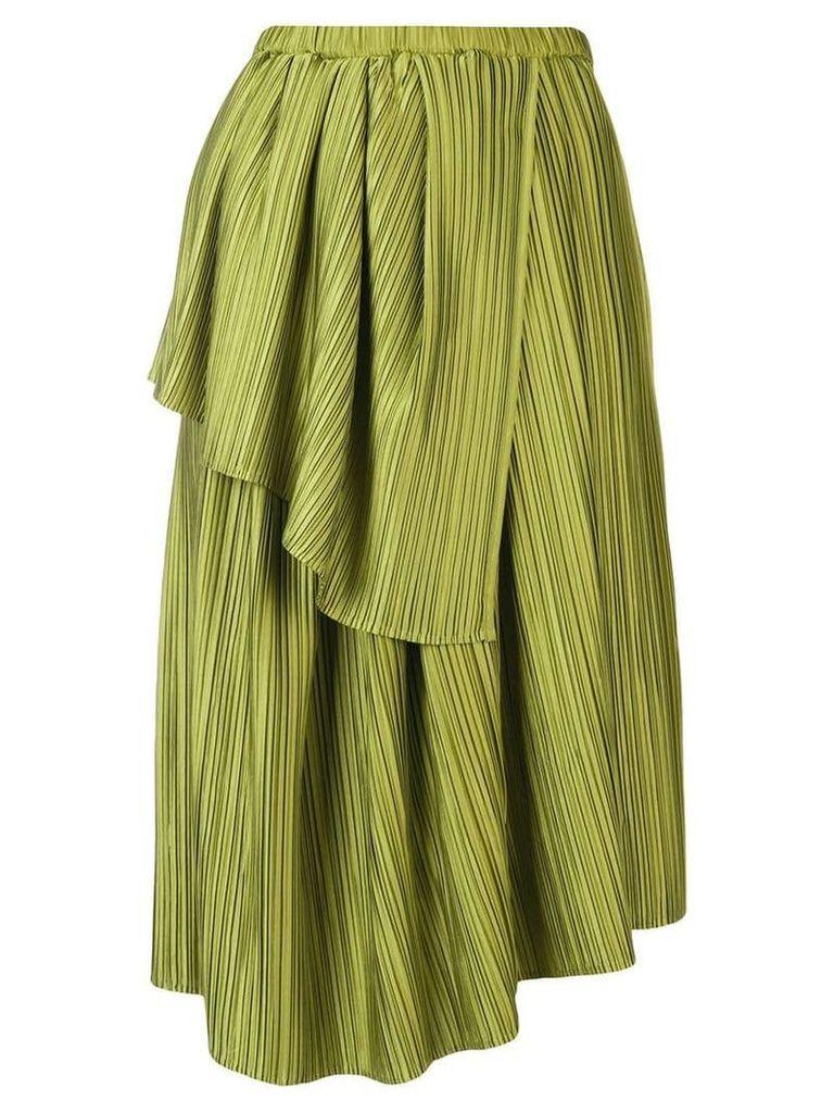 Christian Wijnants Plisse draped skirt - Green