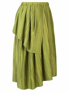 Christian Wijnants Plisse draped skirt - Green