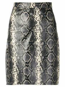 Manokhi snakeskin print midi skirt - Grey