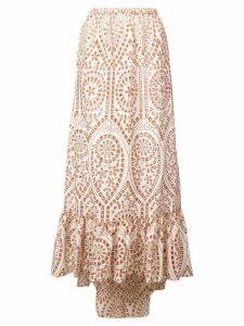 Lisa Marie Fernandez Nicole eyelet skirt - Neutrals
