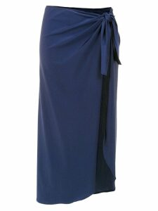 Adriana Degreas midi beach skirt - Blue