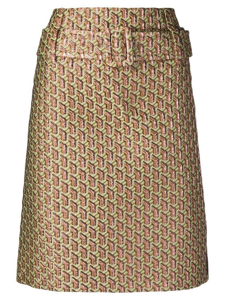 Prada knee high skirt - Green