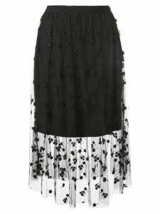Josie Natori embroidered skirt - Black