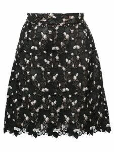 Giambattista Valli floral lace straight skirt - Black
