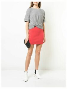 T By Alexander Wang short straight skirt - Red