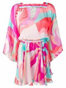 Emilio Pucci Acapulco Print Silk Beach Dress - Pink
