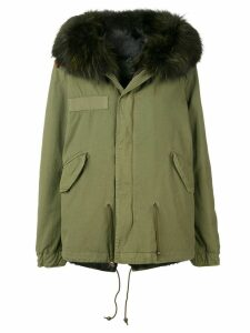 Mr & Mrs Italy fur-trimmed parka coat - Green