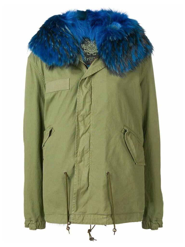 Mr & Mrs Italy fur-trimmed parka coat - Green