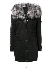 Philipp Plein fur lined parka - Black