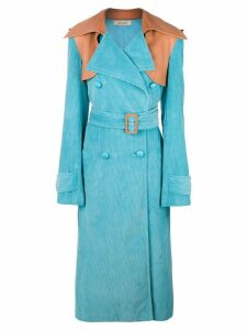 Nina Ricci oversized trench coat - Blue