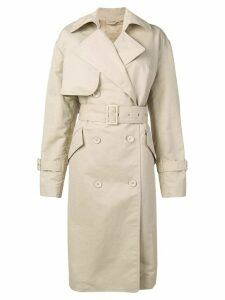 Christian Wijnants Chika trench coat - Brown