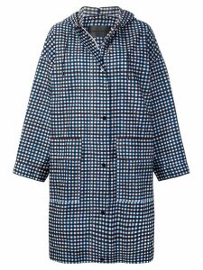 Christian Wijnants Chizu checked raincoat - Blue