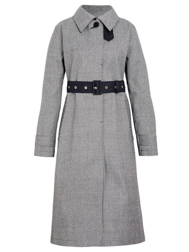 Mackintosh Houndstooth Bonded Wool Fly-Fronted Trench Coat LR-061