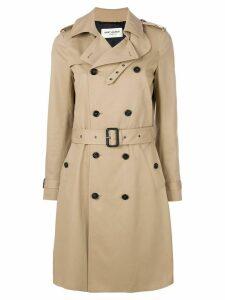 Saint Laurent belted classic trench coat - NEUTRALS