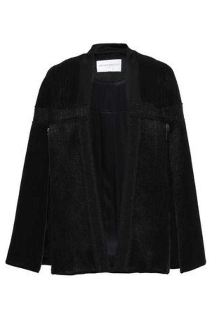 Amanda Wakeley Woman Wool-blend Jacquard Cape Black Size M