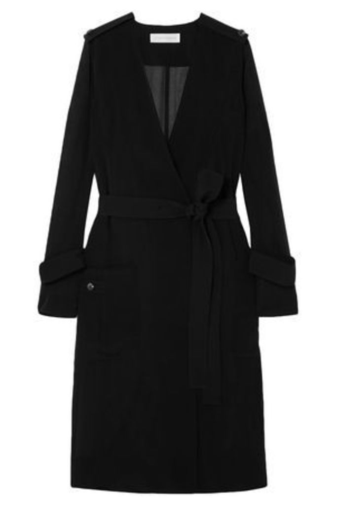 Victoria Beckham Woman Faille Jacket Black Size 10