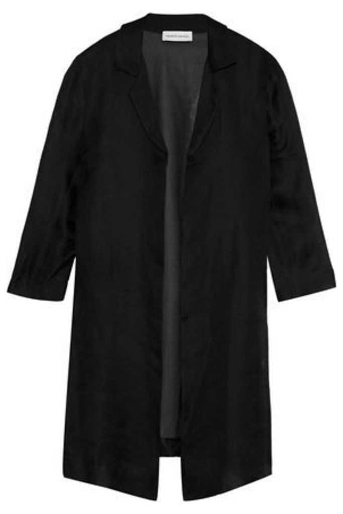 Mansur Gavriel Woman Silk-gauze Coat Black Size 38