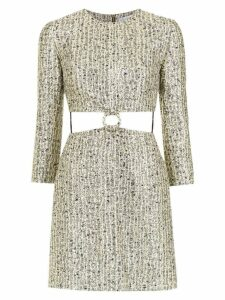 Nk cut out detail jacquard dress - Yellow
